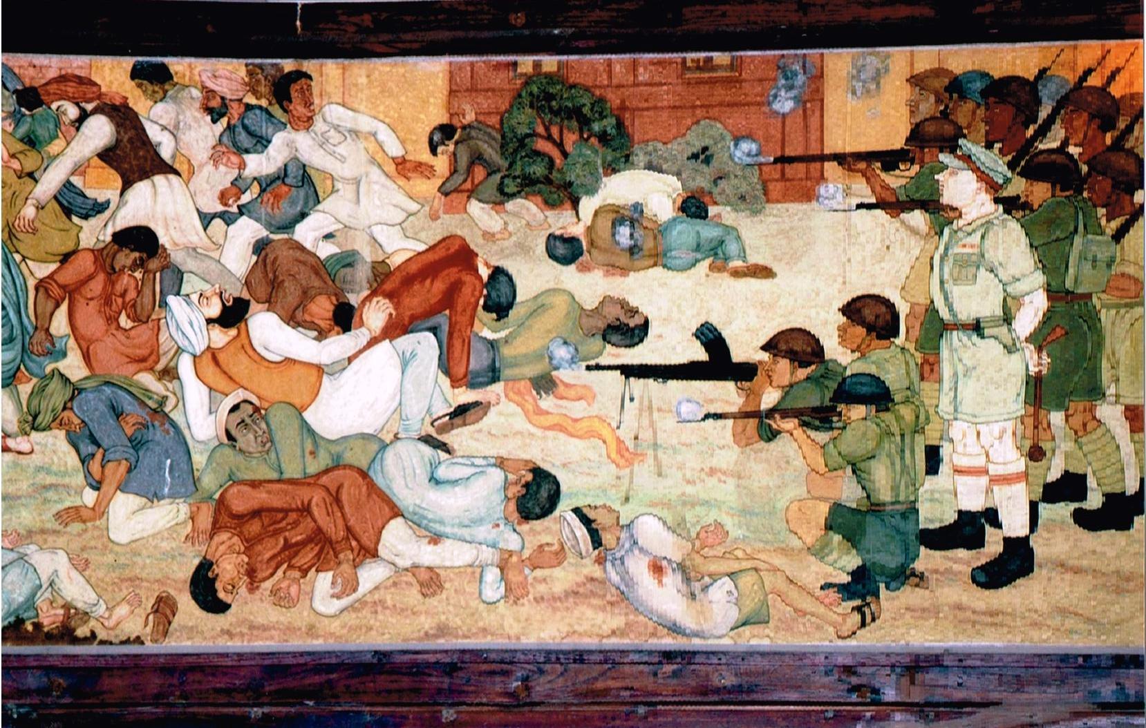 Freedom movement paintings - Jallianwala Bang - Click to Enlarge
